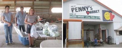 Eastern Ontario Local Food Co-op warehouse and market
